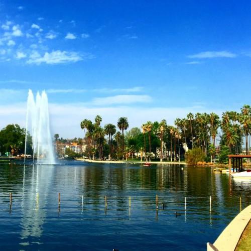体感温度は夏日のロサンゼルスでビデオ撮影
