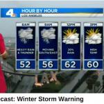 ロサンゼルスのサラリーマンも、やっぱり冬の嵐の中を車通勤する月曜の朝