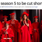 人気TV番組「グリー」が今シーズン早期打ち切り。来季はいよいよ最終シーズン