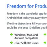 インターネットアクセスを強制的に一時停止するソフト「Freedom」で自由を手に入れる