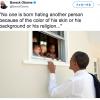 オバマ元大統領のツイート。差別は「注意深く教えられるもの」